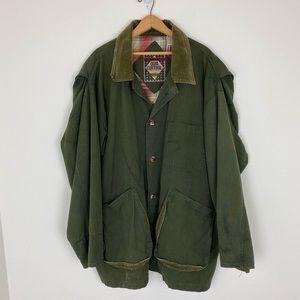 Vintage Khaki Hunting Field Barn Coat Jacket